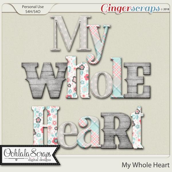 My Whole Heart Alphabets