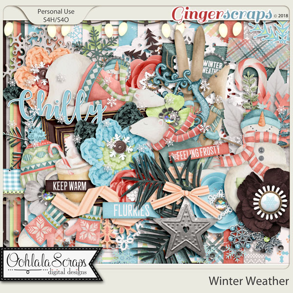 Winter Weather Digital Scrapbook Kit