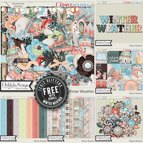 Winter Weather Digital Scrapbook Bundle