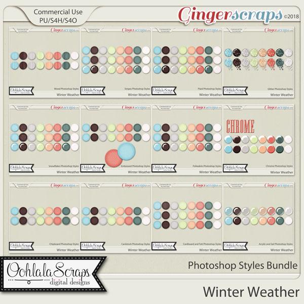 Winter Weather CU Photoshop Styles Bundle