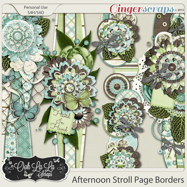 Afternoon Stroll Page Borders