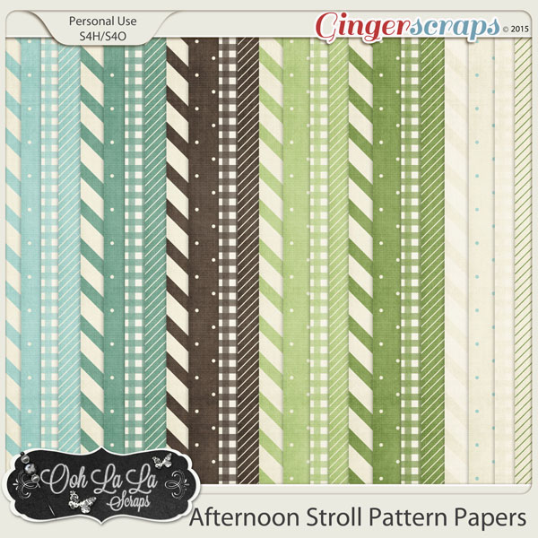 Afternoon Stroll Pattern Papers