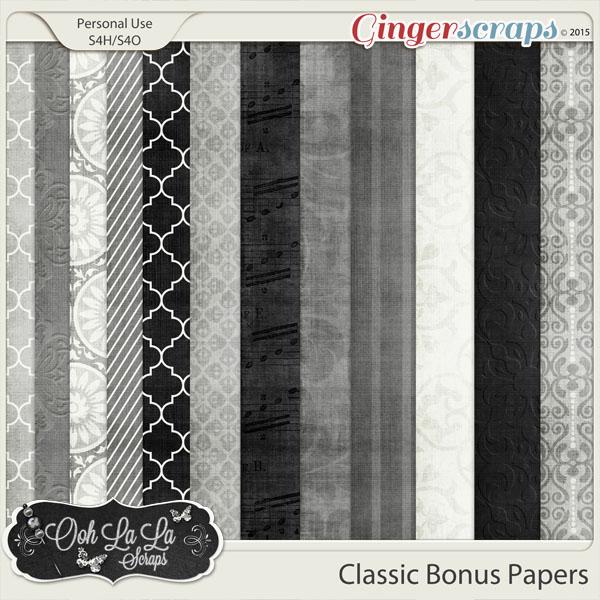 Classic Bonus Pattern Papers