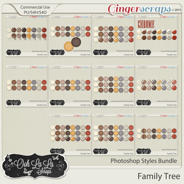 Family Tree CU Photoshop Style Bundle