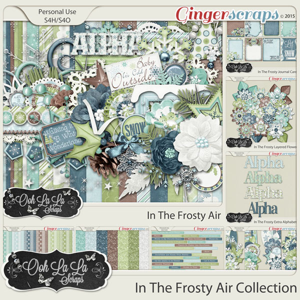 In The Frosty Air Digital Scrapbook Bundle