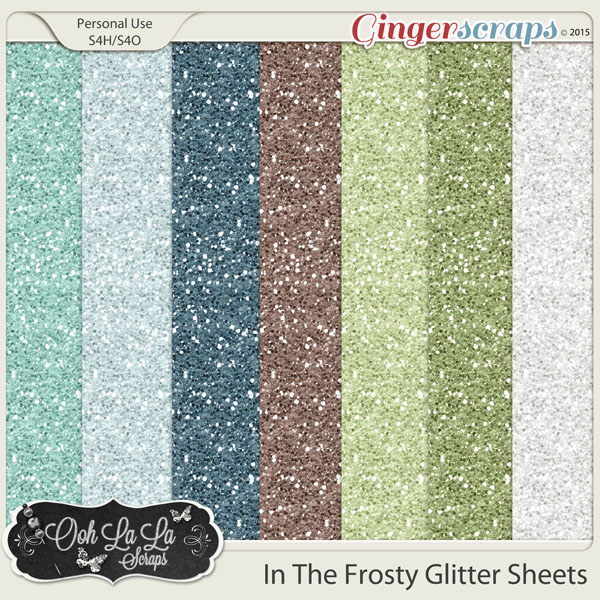In The Frosty Air Glitter Sheets