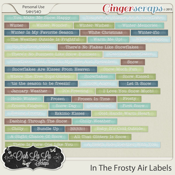 In The Frosty Air Word Labels