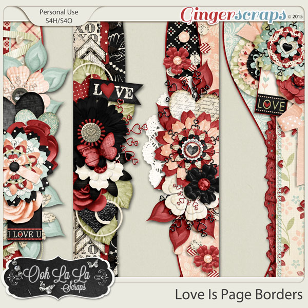 Love Is Page Borders
