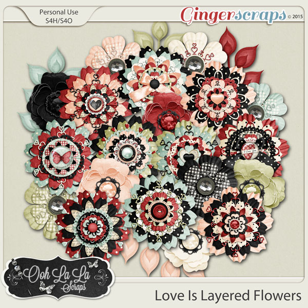 Love Is Layered Flowers