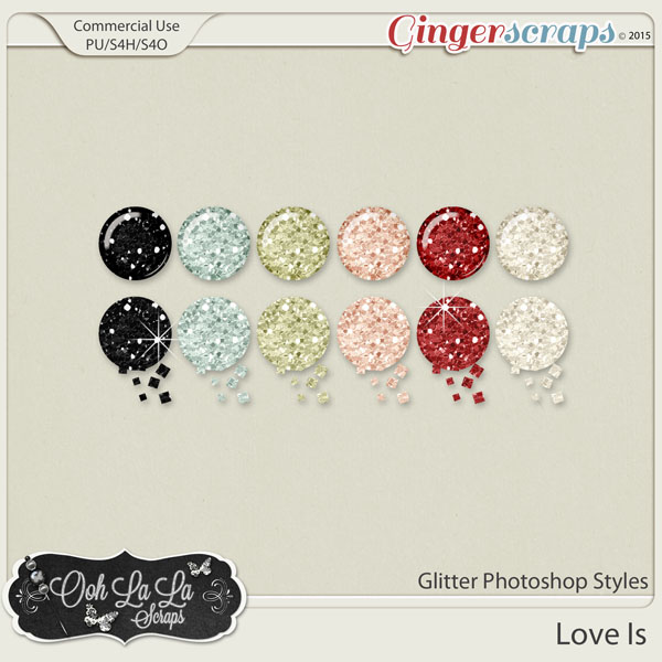 Love Is Glitter Photoshop Styles