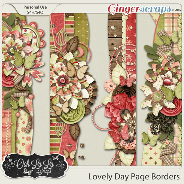 Lovely Day Page Borders