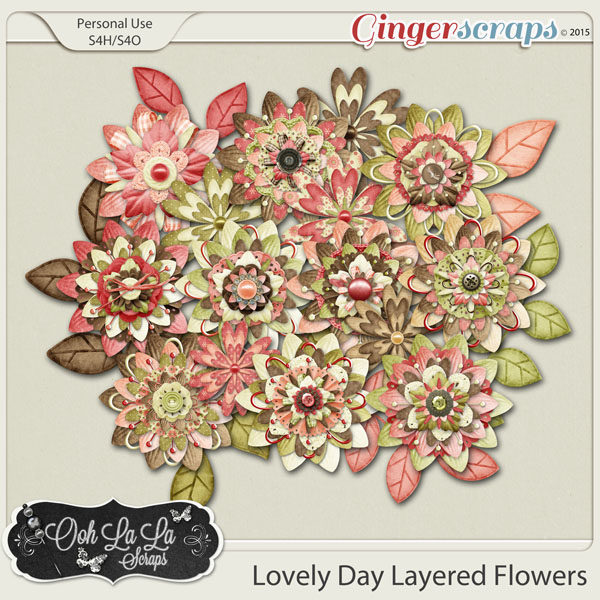 Lovely Day Layered Flowers Pack