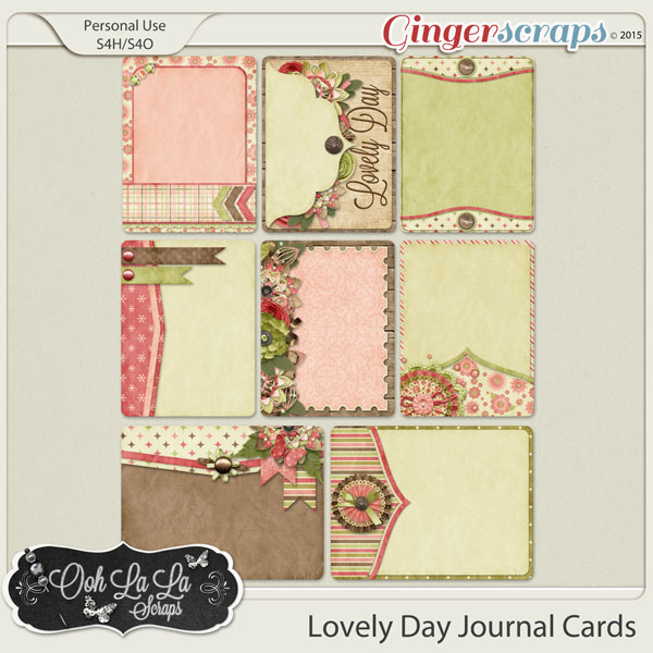 Lovely Day Journal Cards