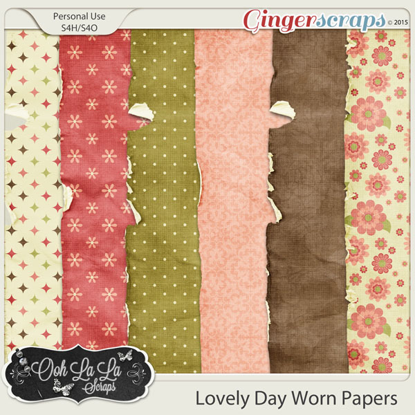 Lovely Day Worn Papers