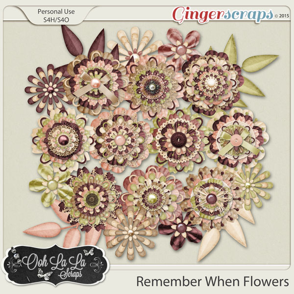 Remember When Layered Flowers