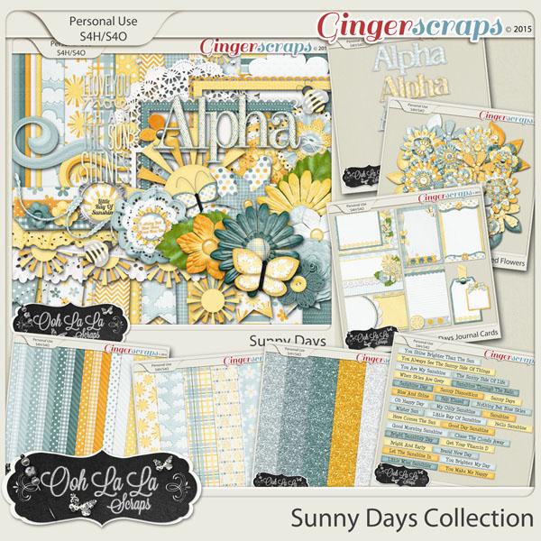 Sunny Days Digital Scrapbooking Bundle