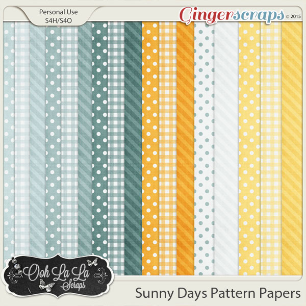 Sunny Days Pattern Papers