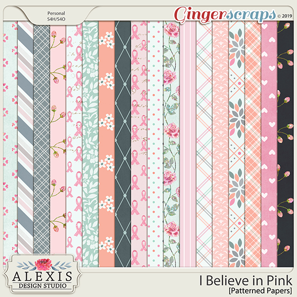 I Believe in Pink - Patterned Papers