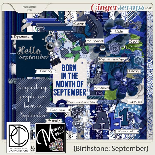 Birthstone: September by Polka Dot Chicks & Memory Mosaic