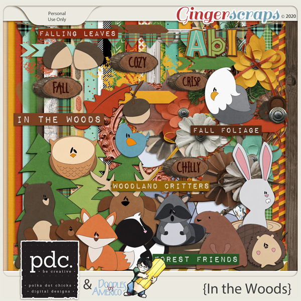 In the Woods by Polka Dot Chicks & Doodles by Americo