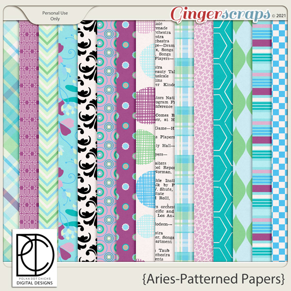 Aries (Patterned Papers)