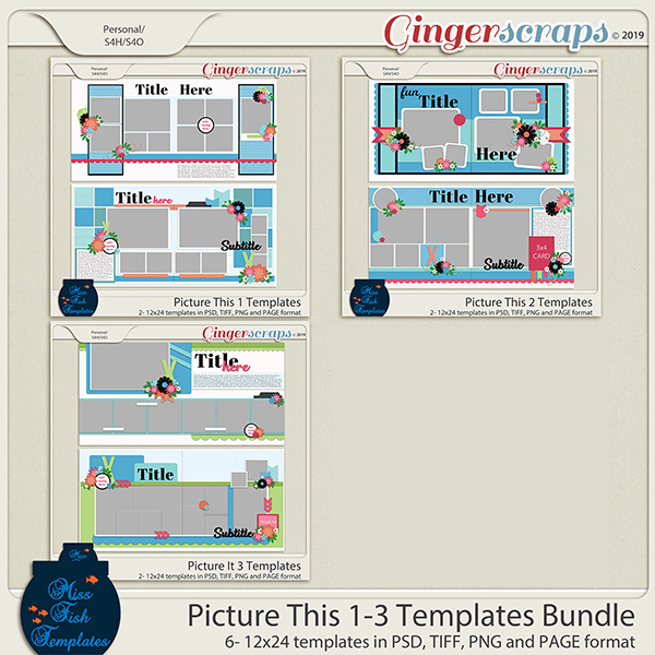Picture This 1-3 Template Bundle by Miss Fish