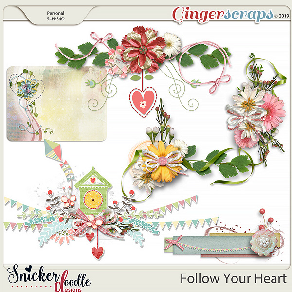 Follow Your Heart Clusters 2 by Snickerdoodle Designs