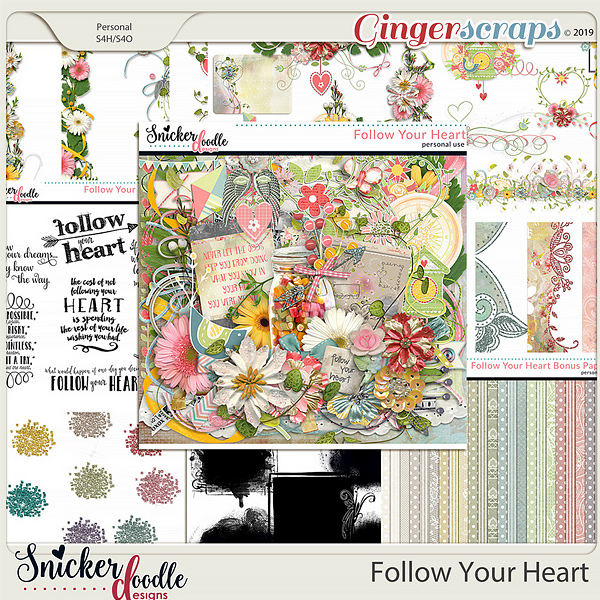 Follow Your Heart Collection by Snickerdoodle Designs
