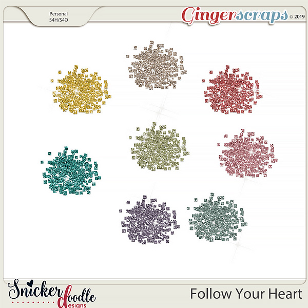 Follow Your Heart Glitter by Snickerdoodle Designs