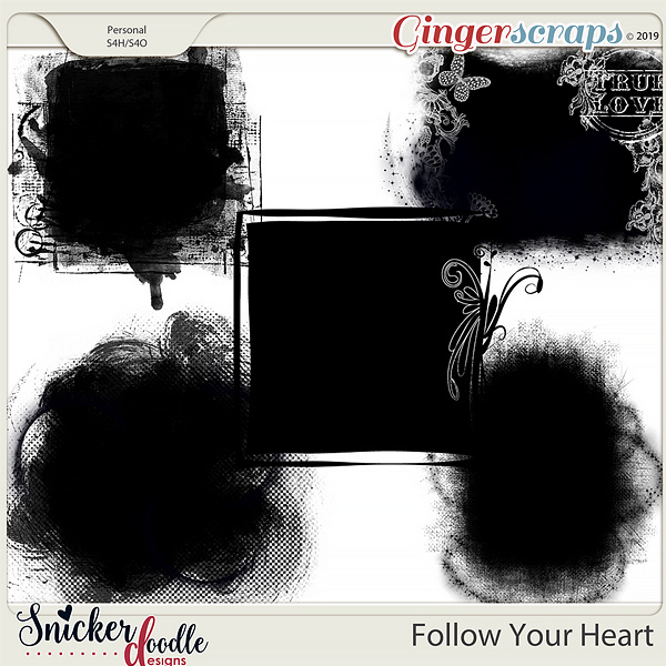Follow Your Heart Masks by Snickerdoodle Designs