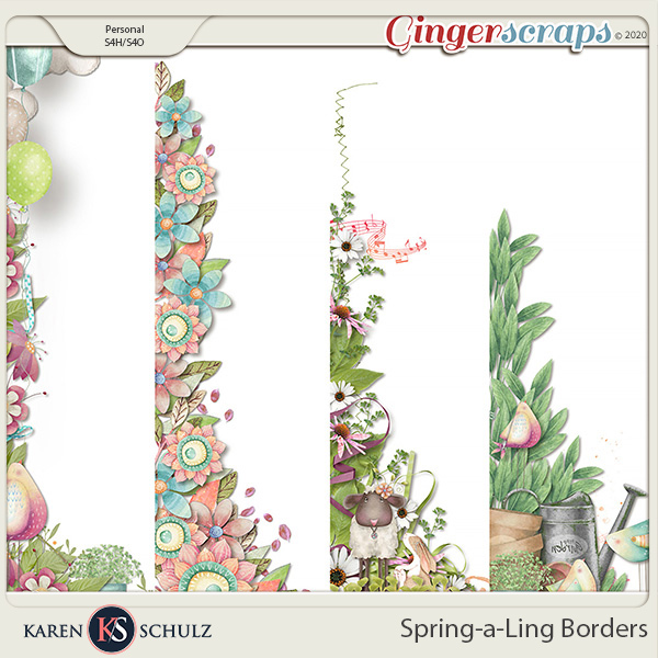 Spring-a-Ling Borders by Snickerdoodle Designs