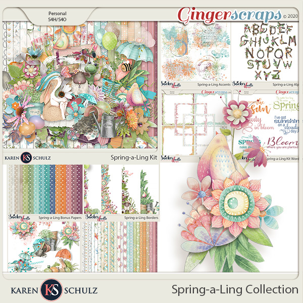 Spring-a-Ling Collection by Snickerdoodle Designs