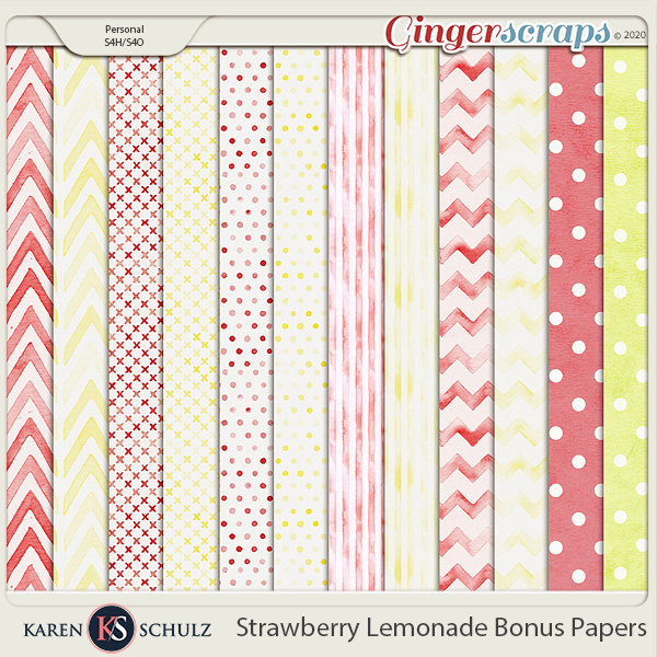 Strawberry Lemonade Bonus Papers by Karen Schulz