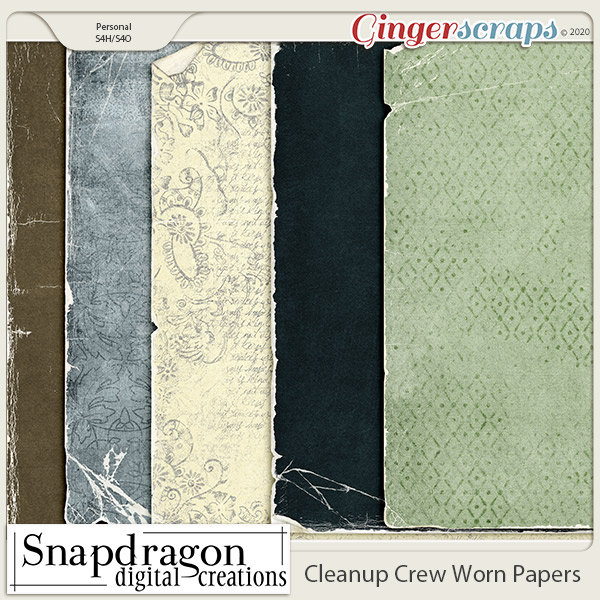 Cleanup Crew Worn Papers