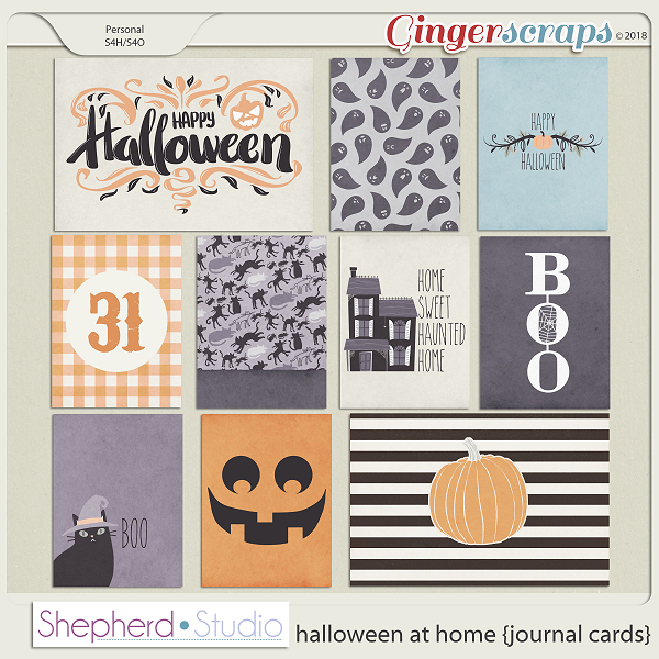 Halloween at Home Journal Cards by Shepherd Studio