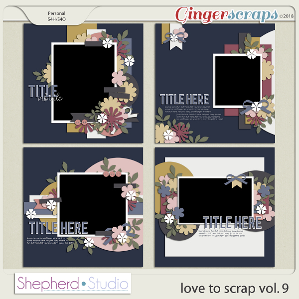 Love to Scrap Volume 9 Templates by Shepherd Studio