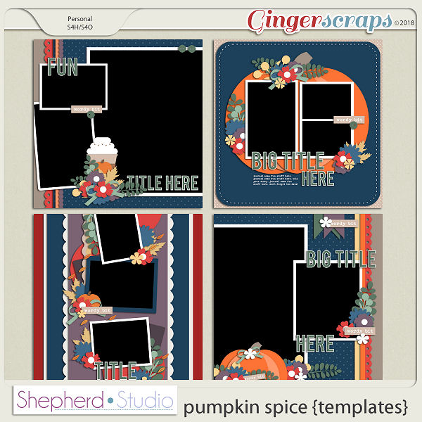 Pumpkin Spice Templates by Shepherd Studio