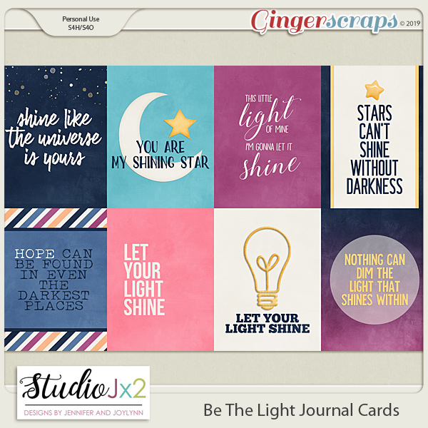 Be The Light Journal Cards
