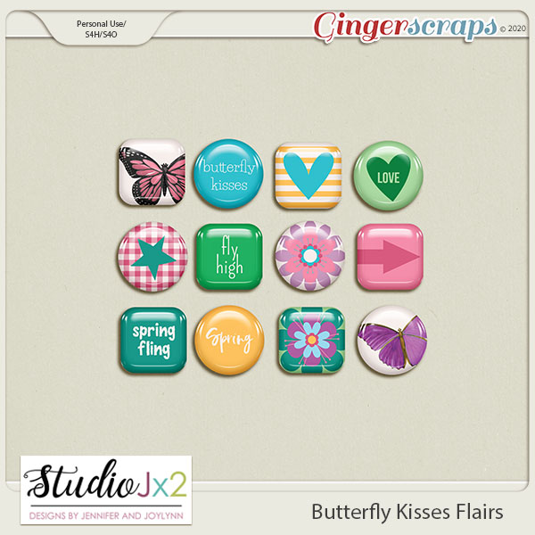 Butterfly Kisses Flairs
