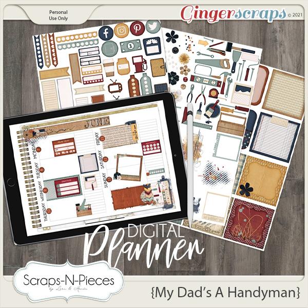 My Dad's A Handyman Planner Pieces - Scraps N Pieces
