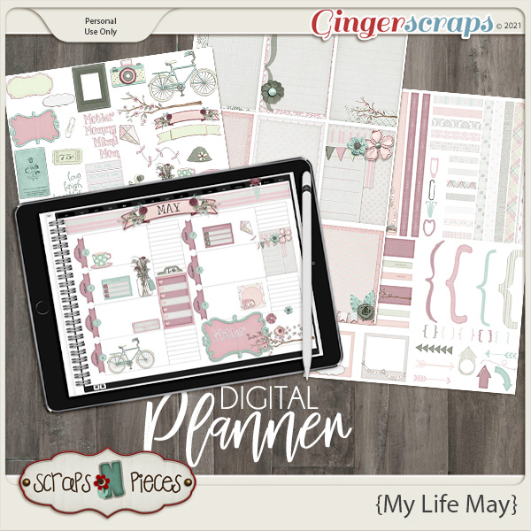 My Life May Planner Pieces by Scraps N Pieces
