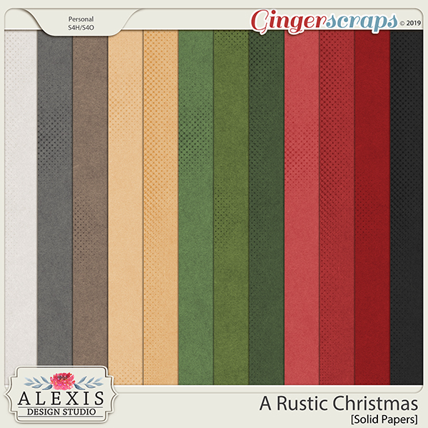 A Rustic Christmas - Solids