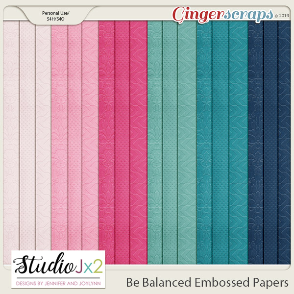 Be Balanced Embossed Papers