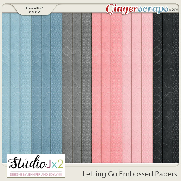 Letting Go Embossed Papers
