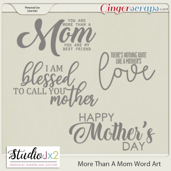 More Than A Mom Word Art