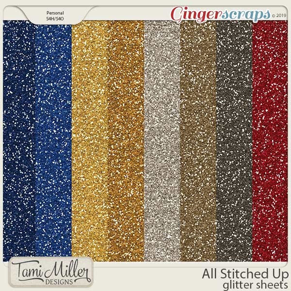 All Stitched Up Glitter Sheets by Tami Miller Designs