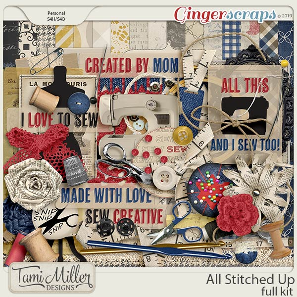 All Stitched Up Full Kit by Tami Miller Designs