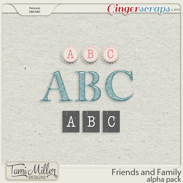 Friends and Family Alpha Pack by Tami Miller Designs