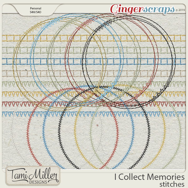 I Collect Memories stitches by Tami Miller Designs