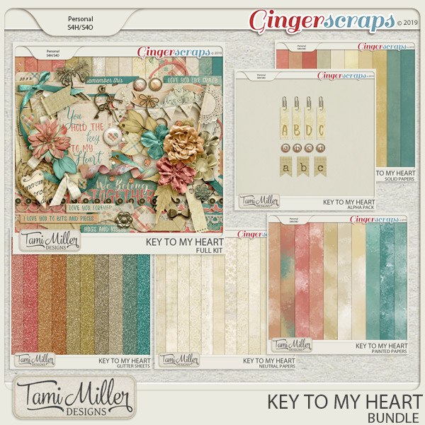 Key to my Heart bundle by Tami Miller Designs